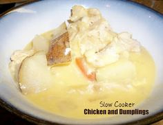 Healthy Meals Monday: Slow Cooker Chicken and Dumplings / Six Sisters' Stuff | Six Sisters' Stuff