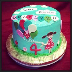 Balloons themed cake