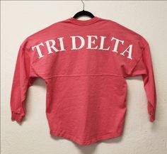 Spirit Football Jersey J470. Coral Tri Delta - Spirit Football Jersey