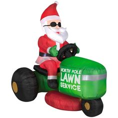 airblown inflatable santas lawnmower scene christmas inflatablesoutdoor christmas decorationsholiday