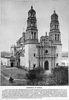 Cathedral of Manila? I don't think so, read text, 1898 or before