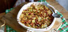Dibbelabbes - Porree, Kartoffel, Zwiebel und Speck