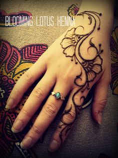 Budding Arabic Pansy Henna Strip; hand | Flickr - Photo Sharing!