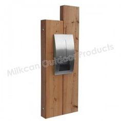 Brooklyn Sleeper Panel with Modena Letterbox AUSTRALIAN Timber Sleeper Timber Panel
