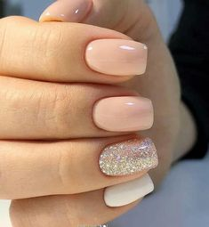 56 Beautiful Natural Square Nails Design For Short Nails - Page 5 of 19 - nails nails nails nails for teens fall 2019 fall autumn fake nails nails natural Cute Nails, Pretty Nails, My Nails, Square Nail Designs, Short Nail Designs, Best Nail Designs, Art Designs, Simple Acrylic Nails, Best Acrylic Nails