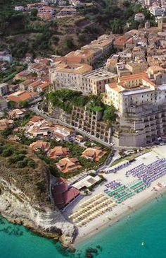 We're dreamin' of beach chillin' Tropea, Calabria, Southern Italy Beautiful Places In The World, Beautiful Places To Visit, Places Around The World, Great Places, Places To See, Around The Worlds, Vacation Destinations, Dream Vacations, Vacation Spots