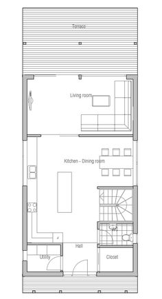 Small House to the narrow lot. Designed by ConceptHome.com