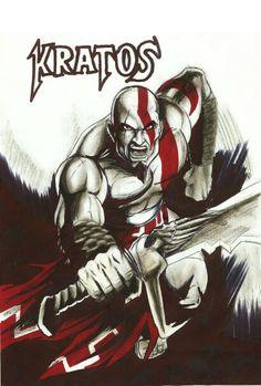 Kratos concept art Kratos Mortal Kombat, Video Game, Kratos God Of War, Deadpool, Concept Art, Joker, Superhero, Fictional Characters, Pictures