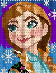 Anna From Disney Frozen bead pattern
