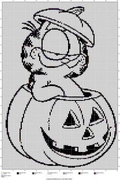 garfield Cross Stitch Owl, Beaded Cross Stitch, Cross Stitch Animals, Counted Cross Stitch Patterns, Cross Stitch Charts, Cross Stitching, Cross Stitch Embroidery, Intarsia Knitting, Knitting Charts