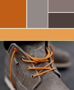 Gray to orange.