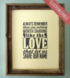 Personalized Share Love Print   Art Prints   The Oyster's Pearl   Scoutmob Shoppe   Product Detail
