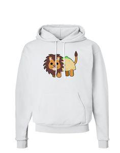 TooLoud Cute Taco Lion Hoodie Sweatshirt