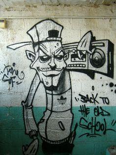 BACK+TO+THE+OLD+SCHOOL+...+:+otro+platita+al+canto+!!!!!+ +brainkilla Graffiti Tattoo, Graffiti Wall Art, Graffiti Drawing, Graffiti Lettering, Street Art Graffiti, Graffiti Characters, Art Drawings Beautiful, Poses References, Hip Hop Art