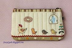 Busy morning at the farm, machine applique | by STORY QUILT