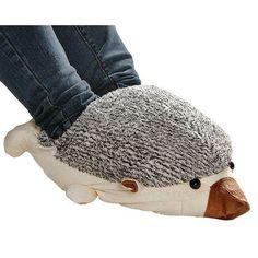 Awwww how cute.  Beige Hedgehog Baby USB Heating Shoes Warmer