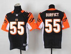 Nike Cincinnati Bengals #55 Vontaze Burfict Black Elite Jersey ...