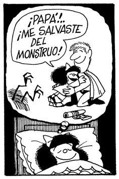 Mafalda y papá.