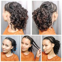 Here's a quick how-to for my fluffy flat twist out. Super simple! I did 6 chunky flat twists and added little perm rods to the ends of my hair. Took the twists out in the morning and fluffed my hair with an afro pic. I then pinned some sections up for a half up/half down look. Anyone have exciting hair plans for the weekend?? #naturalhairtutorial #flattwistout
