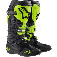 All new Alpinestars Tech 10 Boots!  Ltd Edition colourway designed for Ryan Villopoto himself!  Available at www.dirtbikexpress.co.uk