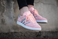Spring must have - Adidas Gazelle pink sneakers.