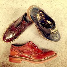 Base London Shoes. Woburn Hi Shine. COlourful brogues. mens shoes. mens style. mens fashion.