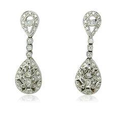 14K Gold Diamond Drop Earrings Available on our July 21st Auction @ hamptonauction.com