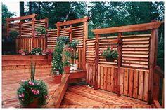 Flex·fence louvered hardware for fences, decks, pergolas, hot tub privacy and so… Deck With Pergola, Pergola Shade, Pergola Patio, Backyard Patio, Pergola Ideas, Pergola Cover, Pergola Kits, Pergola Images, Backyard Ideas