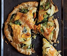 Slideshow with recipes: Savory Vegetable Tarts (pictured: Rustic Vegetable Tart with Roasted Butternut Squash, Parsnips, and Brussels Sprouts)
