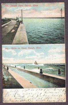 DULUTH-MN-1907-Piers & Canal-Postcard | eBay