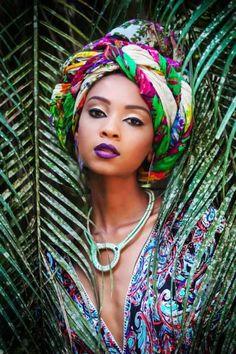 Fashion Ghana Magazine | Headwrap | Larissa Canella ~African fashion, Ankara, kitenge, African women dresses, African prints, Braids, Nigerian wedding, Ghanaian fashion, African wedding ~DKK