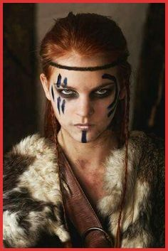 Fantasy Art Warrior Women War Paint 17 pomysłów na 2019 rok Fantasy Kunst Krieger, Krieger Make-up, Viking Makeup, Viking Warrior Woman, Warrior Women, Warrior Makeup, Viking Aesthetic, Fantasy Art Warrior