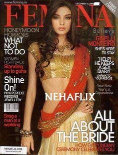 Brazilian Bollywood Actor Giselle Monteiro for Femina Dec 09