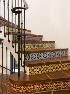 Wrought Iron Railing and Risers