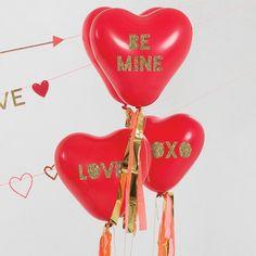 Heart Glitter Balloon Kit By Meri Meri