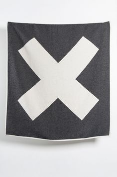 Zigzagzurich X Marks The Spot Artist Cotton Blankets / Throws By Michele Rondelli - Black & White Jacquard Loom, Cotton Blankets, Artist At Work, Weaving, Textiles, Colours, Black And White, Creative, Artwork