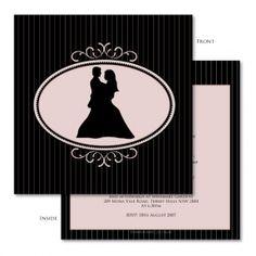 Auravella gracious silhouette wedding invitations