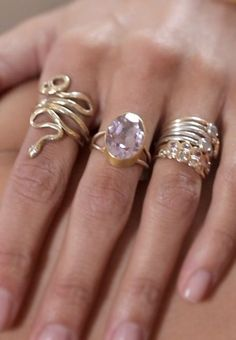 love this collection of rings