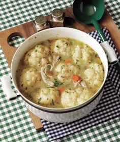 Chicken and dumplings..brown the chicken first, then simmer add dumplings at the end. So comforting!