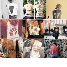Something you could try: DIY Cut Out Shirt