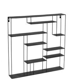 Bruka Design Wandregal 80 x 80 cm Labyrinth schwarz - Sori Home Ikea Interior, Interior Shop, Steel Furniture, Home Furniture, Furniture Design, Panton Chair, Shelving Design, Regal Design, Welcome To My House