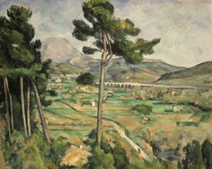 Mont Sainte-Victoire and the Viaduct of the Arc River Valley. Paul Cezanne