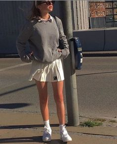 Indie Outfits, Preppy Outfits, Retro Outfits, Cute Casual Outfits, Cute Outfits With Skirts, School Skirt Outfits, Tennis Outfits, Skater Girl Outfits, Tennis Clothes
