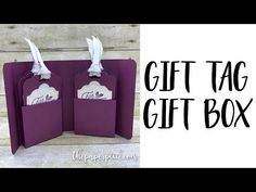 Gift Tag Gift Box with Video Tutorial - The Paper Pixie Handmade Gift Tags, Diy Gift Box, Diy Box, Gift Boxes, Christmas Craft Fair, Christmas Gift Tags, Christmas 2017, Diy Holiday Gifts, Card Tutorials