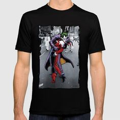 The Kissing Joke T-Shirt - Joker T-Shirt is 20% off today at Society6 today! Joker T Shirt, Kiss, Batman, Jokes, Shirts, Husky Jokes, Memes, Dress Shirts, Kisses