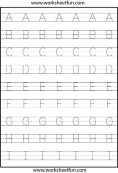 letter tracing 3 worksheets