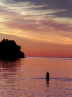 Sunset Kiss at Parksville Beach, Vancouver Island #Parksville