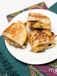Mushroom and Cheese Sandwich