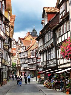 Hannoversch Münden, Niedersachsen (Lower-Saxony) Beautiful intact timber-framed houses some over 600 years old.