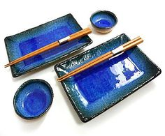 Sushi Set for Two - Deep Sea Blue